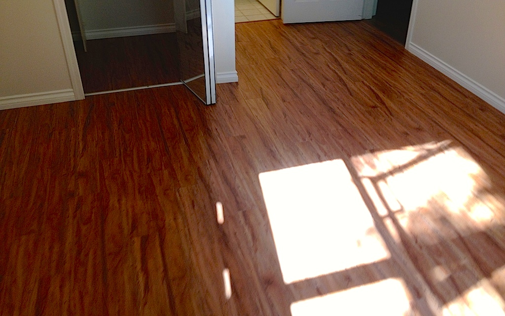 Laminate flooring project in Port Moody