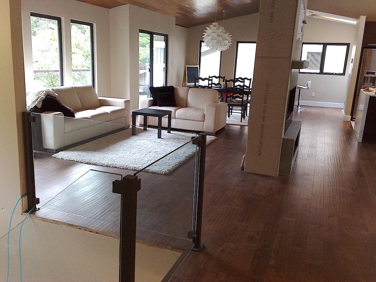 Modern Living room with hardwood floors