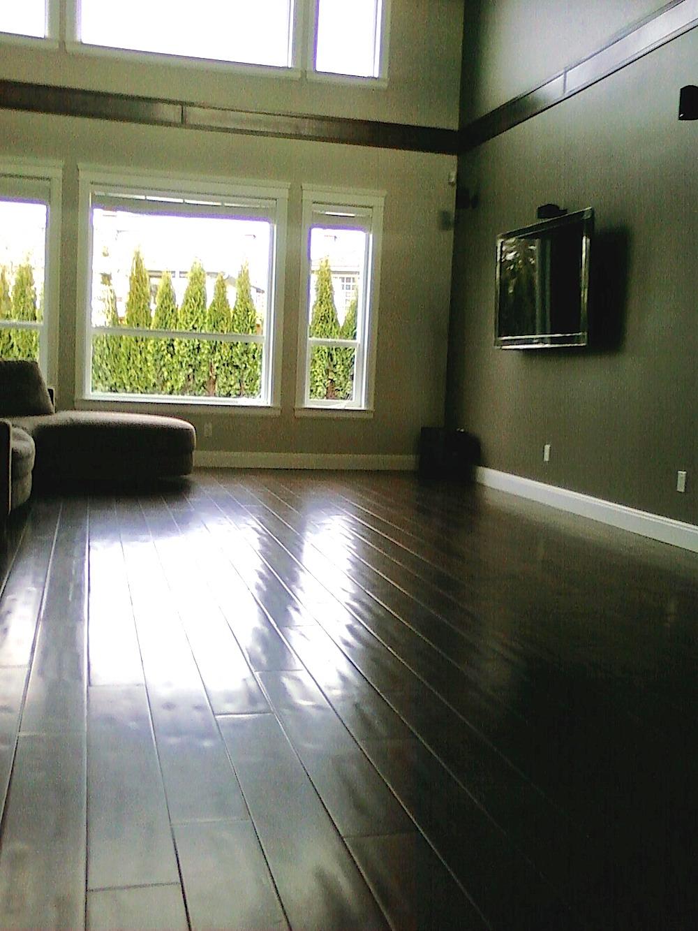 Hardwood install Living Room