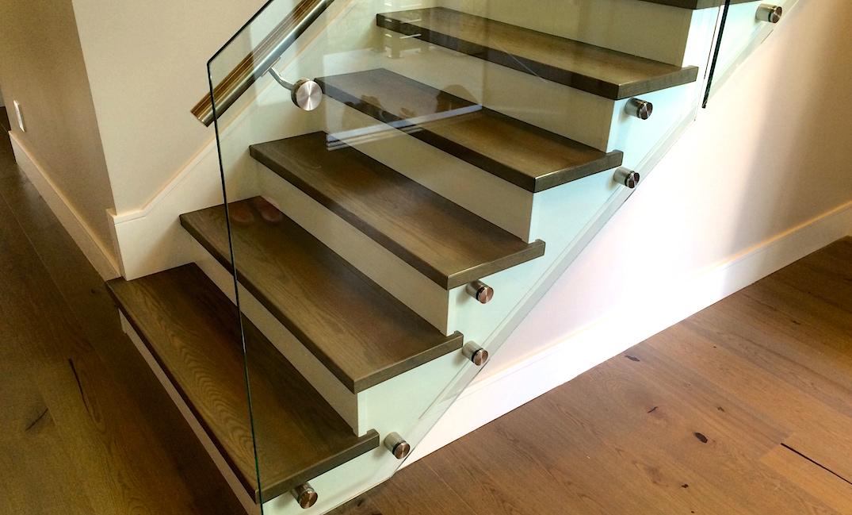 Hardwood Made Stair Treads Carpet Laminate Amp Hardwood