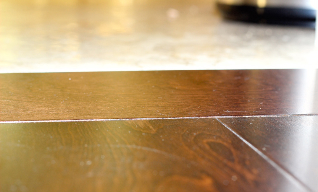 hardwood transitions to tile