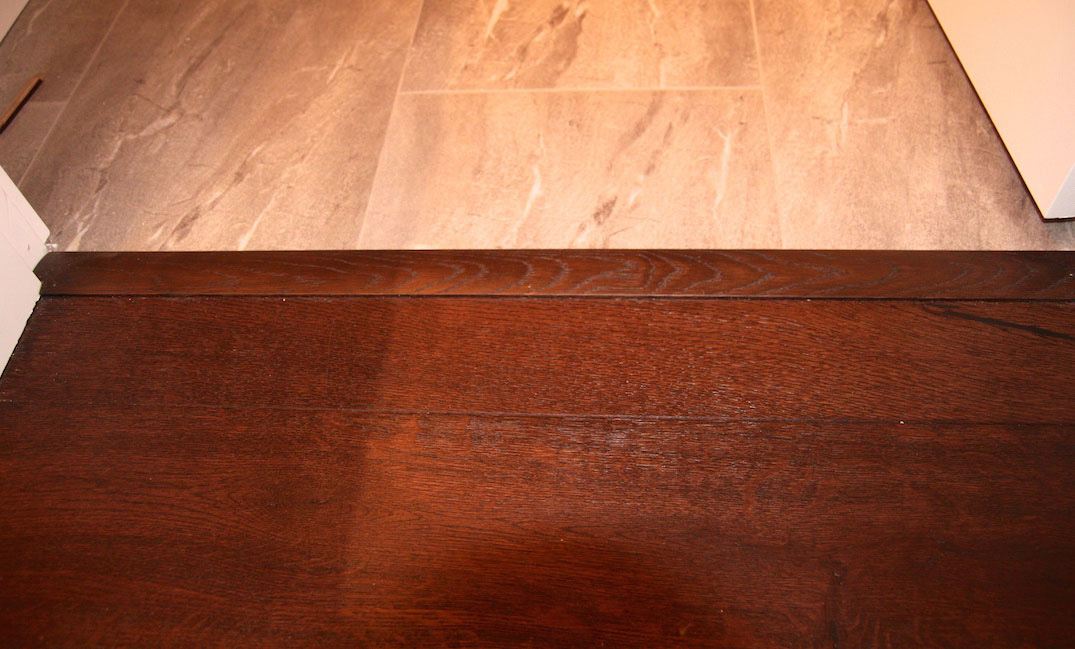 solid hardwood floor transitions