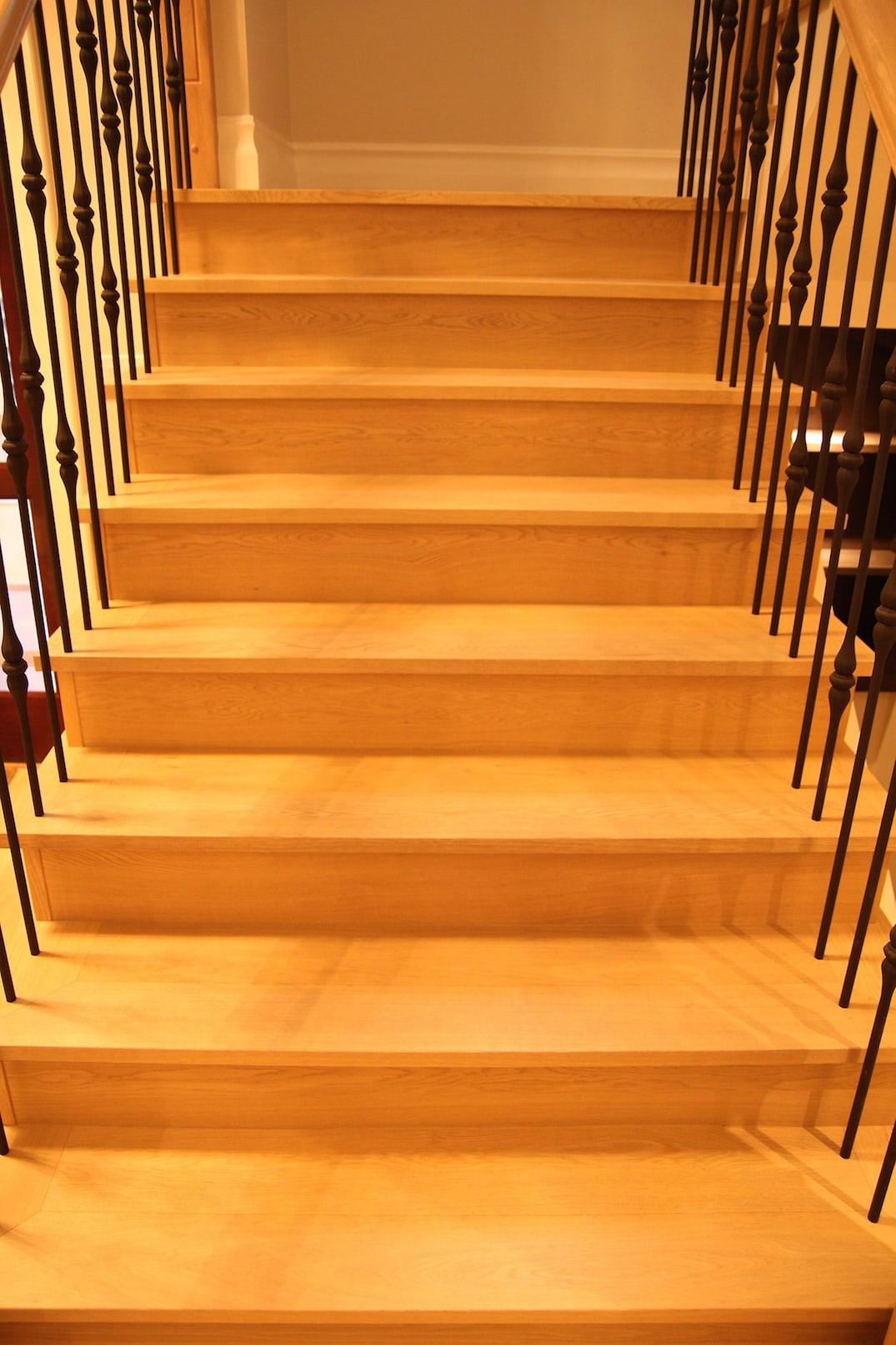 custom hardwood stairs and starcase