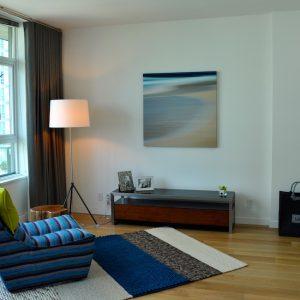 bedroom with engineered hardwood floors