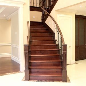 custom flooring instalaltion stairs
