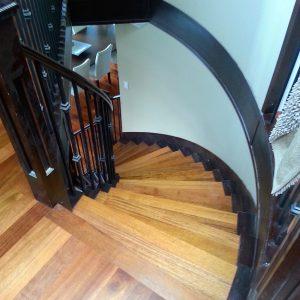 hardwood flooring stair case