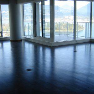 hardwood in living room instalaltion vancouver