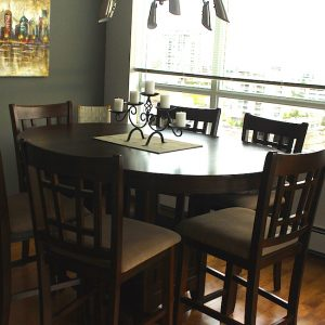 hardwood installation dining room vancouver