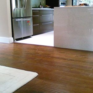 solid and engineered hardwood flooring in kitchen area