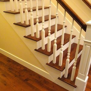 wood stair treads installation vancouver