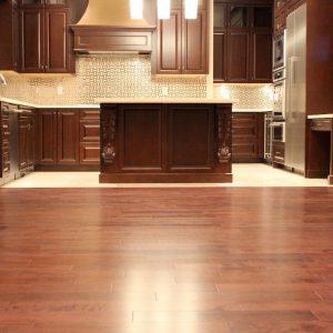 hardwood flooring isntallation in kitchen area