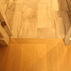 hardwood flooring transition to tile vancouver